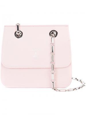 Маленькая сумка на плечо Mark Cross. Цвет: розовый и фиолетовый