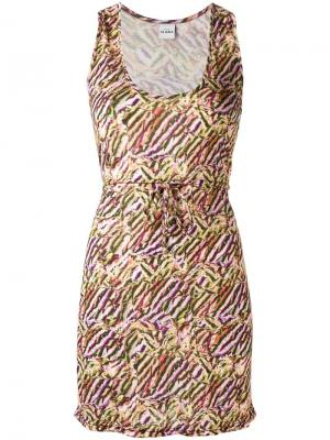 Пляжное платье с принтом Amir Slama. Цвет: многоцветный