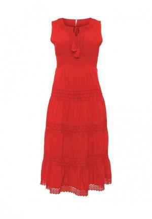 Платье Fresh Cotton. Цвет: красный