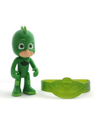 Игровой набор фигурка 8 см со светом, браслет Гекко. Герои в масках PJ Masks. Цвет: синий, зеленый