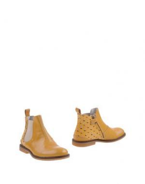 Полусапоги и высокие ботинки MOMINO. Цвет: охра