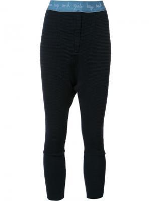 Спортивные штаны с вафельным узором Lequip L'equip. Цвет: синий