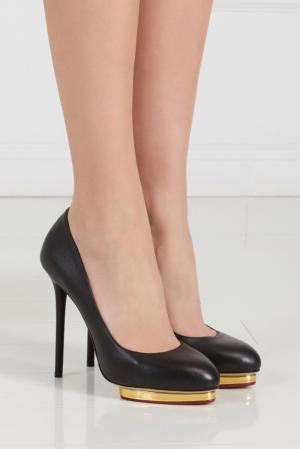 Кожаные туфли Dotty Charlotte Olympia. Цвет: none