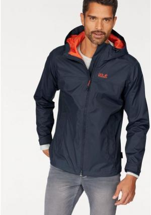 Куртка-дождевик Jack Wolfskin. Цвет: темно-синий