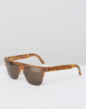 Retrosuperfuture Солнцезащитные очки Andrea. Цвет: коричневый