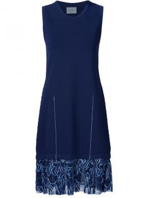 Трикотажное платье с принтом зайцев Grey Jason Wu. Цвет: синий