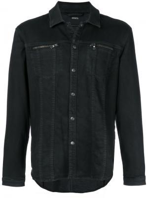 Джинсовая куртка John Varvatos. Цвет: чёрный