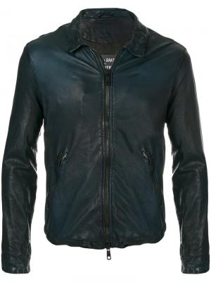 Приталенная куртка на молнии Giorgio Brato. Цвет: синий
