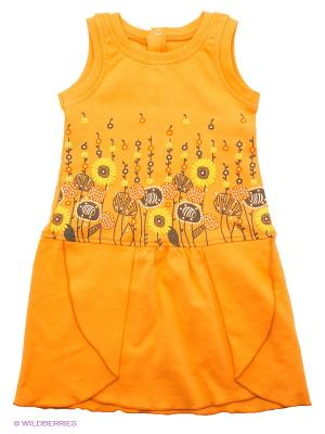 Сарафан FIM. Цвет: оранжевый, желтый