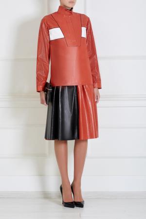 Кожаная юбка Proenza Schouler. Цвет: красный