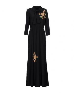 Длинное платье POUSTOVIT. Цвет: темно-синий