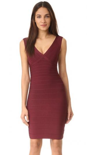 Платье Karima Herve Leger. Цвет: красный