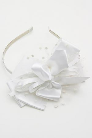 Ободок NICE GIRL. Цвет: белый