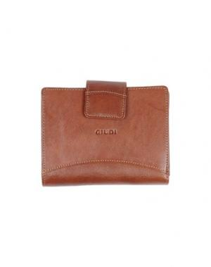 Бумажник GIUDI. Цвет: коричневый