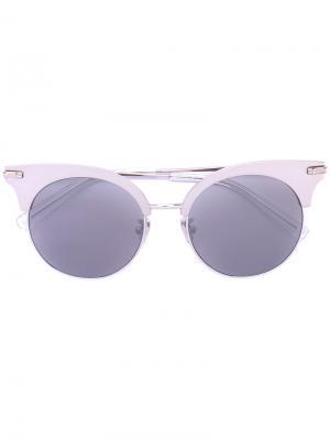 Солнцезащитные очки с оправой кошачий глаз Boucheron. Цвет: серый