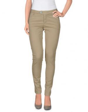 Повседневные брюки BONHEUR. Цвет: бежевый