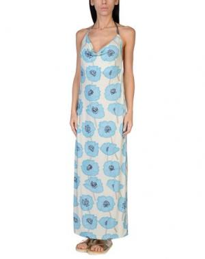 Пляжное платье GRAZIA'LLIANI SOON. Цвет: лазурный
