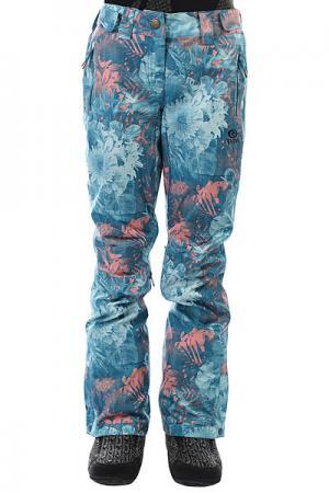 Штаны сноубордические женские  Slinky Ptd Ink Blue Rip Curl. Цвет: синий,мультиколор