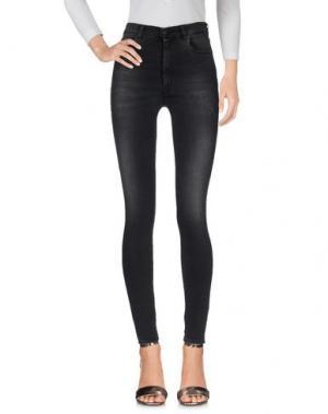 Джинсовые брюки (+) PEOPLE. Цвет: стальной серый