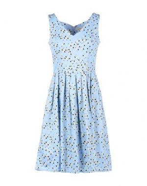 Короткое платье PEOPLE TREE. Цвет: небесно-голубой