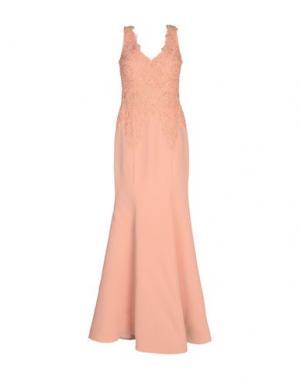 Длинное платье MUSANI COUTURE. Цвет: лососево-розовый