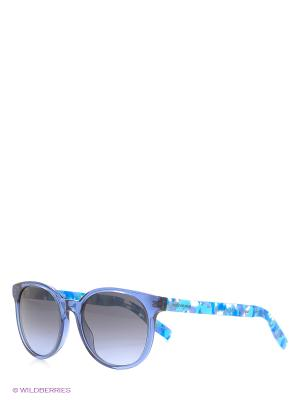 Солнцезащитные очки HUGO BOSS. Цвет: синий
