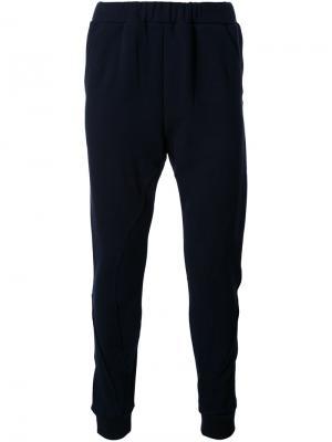 Спортивные брюки с карманами на молнии Yoshio Kubo. Цвет: чёрный