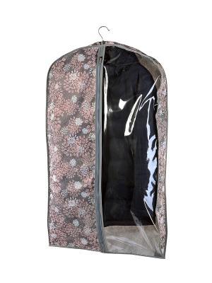 Чехол объемный для одежды большой Серебро COFRET. Цвет: серый, розовый, белый