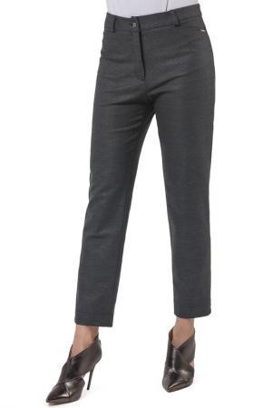Прямые брюки с застежками Helmidge. Цвет: серый