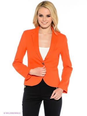 Пиджак Oodji. Цвет: оранжевый