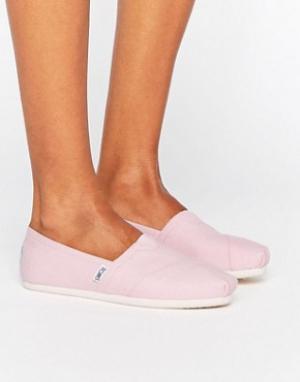 Toms Классические розовые туфли на плоской подошве. Цвет: розовый