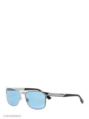 Солнцезащитные очки BK 216S 07 Bikkembergs. Цвет: голубой
