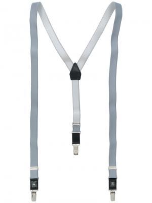 Классические подтяжки Corneliani. Цвет: серый