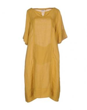 Платье до колена CALIBAN. Цвет: охра