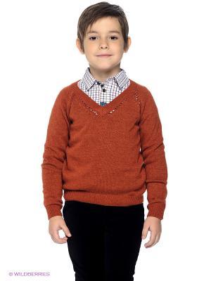 Пуловер Gulliver. Цвет: терракотовый