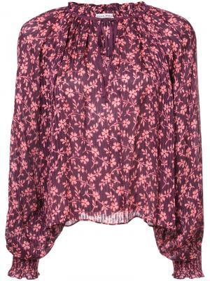 Блузка в стиле бохо Ulla Johnson. Цвет: красный