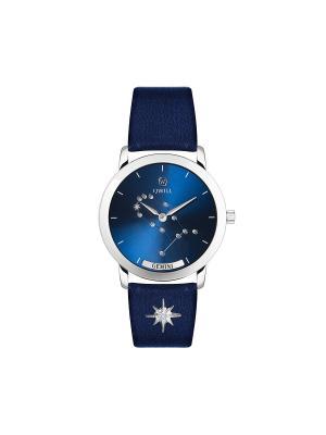 Часы ювелирные лимитированная коллекция Galaxy Gemini-Близнецы QWILL. Цвет: синий