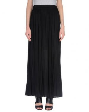 Длинная юбка PUROTATTO. Цвет: черный