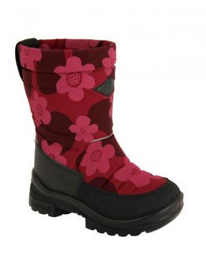 Сапоги KUOMA. Цвет: бордовый, розовый