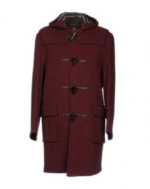 Пальто GLOVERALL. Цвет: баклажанный