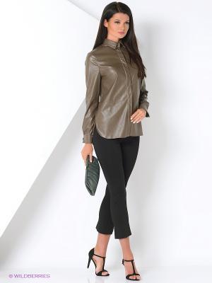 Блузка La Via Estelar. Цвет: коричневый