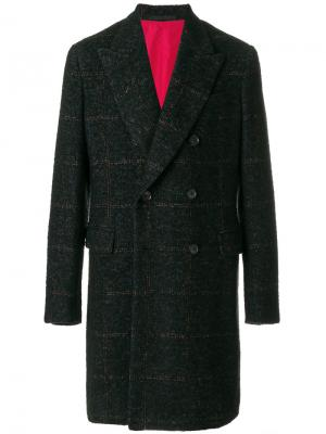 Двубортное пальто Caruso. Цвет: синий