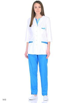 Костюм медицинский Med Fashion Lab. Цвет: синий, белый, лазурный