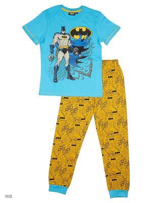 Пижама: футболка, брюки Modis. Цвет: голубой, желтый