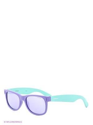 Солнцезащитные очки Polaroid. Цвет: фиолетовый, зеленый