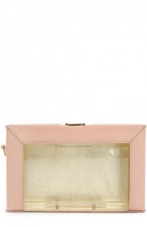 Клатч Astaire с набором косметичек Charlotte Olympia. Цвет: светло-розовый