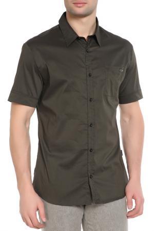 Рубашка, короткий рукав CNC Costume National C'N'C. Цвет: зеленый