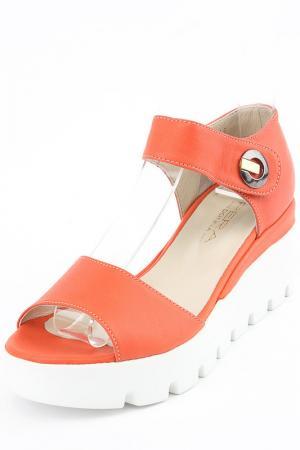 Туфли летние открытые PERA DONNA. Цвет: красный
