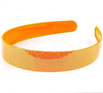 Ободок для волос, арт. 08-299 Бусики-Колечки. Цвет: оранжевый