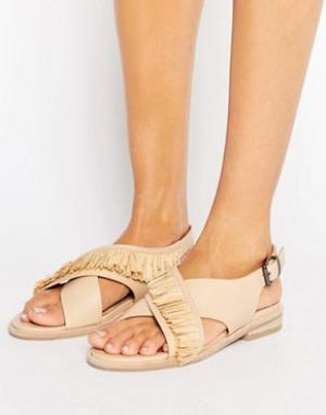 Sol Sana Кожаные сандалии с ремешками накрест Marla. Цвет: бежевый